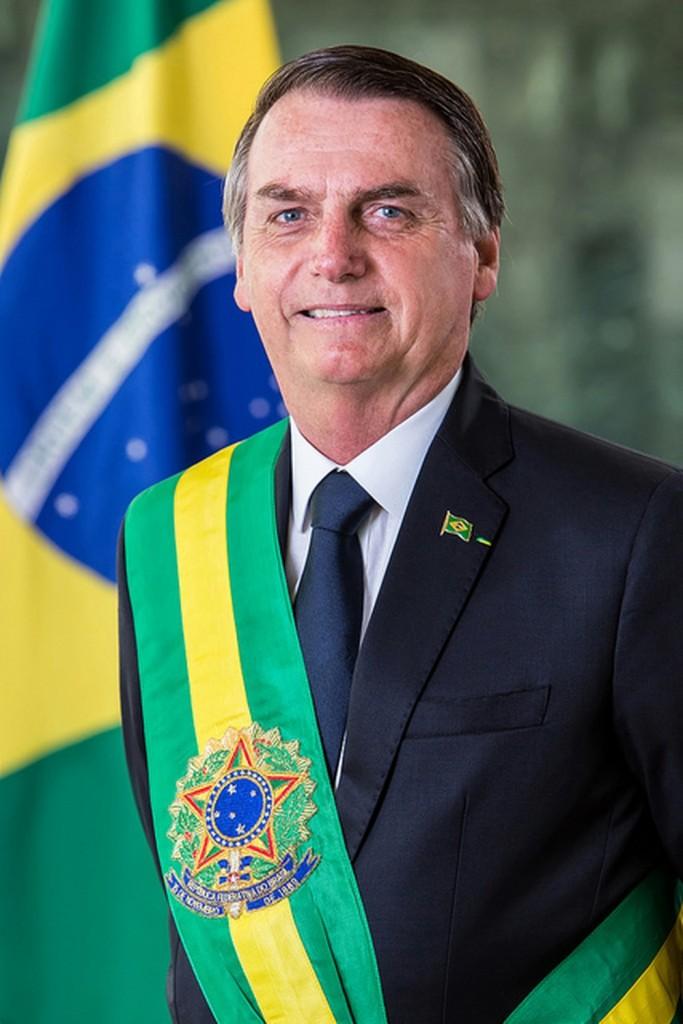 Retrato oficial de Jair Bolsonaro como presidente da República (Foto: Alan Santos/PR)