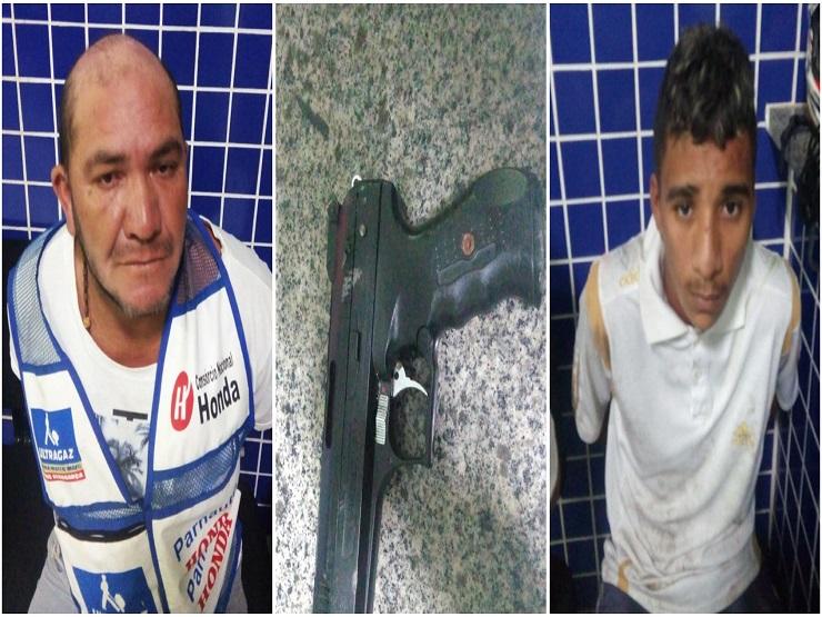 Homens armados são flagrados roubando e acabam presos após fuga