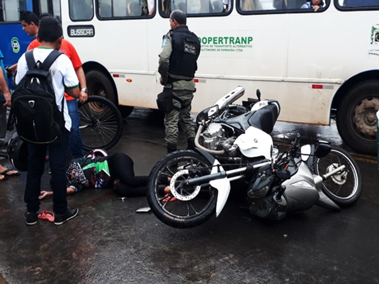 Mulher morre vítima de acidente de trânsito em Parnaíba