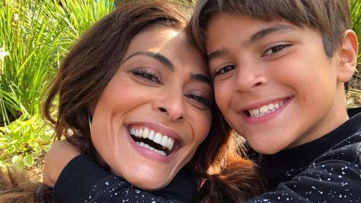 Semelhança de Juliana Paes e o filho Pedro surpreende fãs em foto