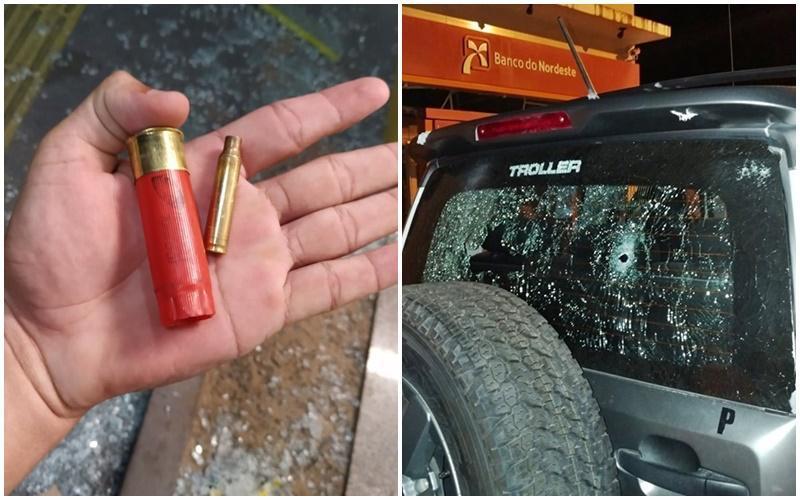 Bandidos metralham carro da polícia e explodem três agências bancárias no MA