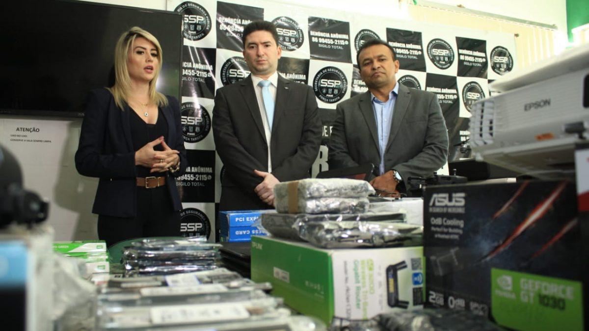 Receita Federal doa equipamentos apreendidos para SSP do Piauí