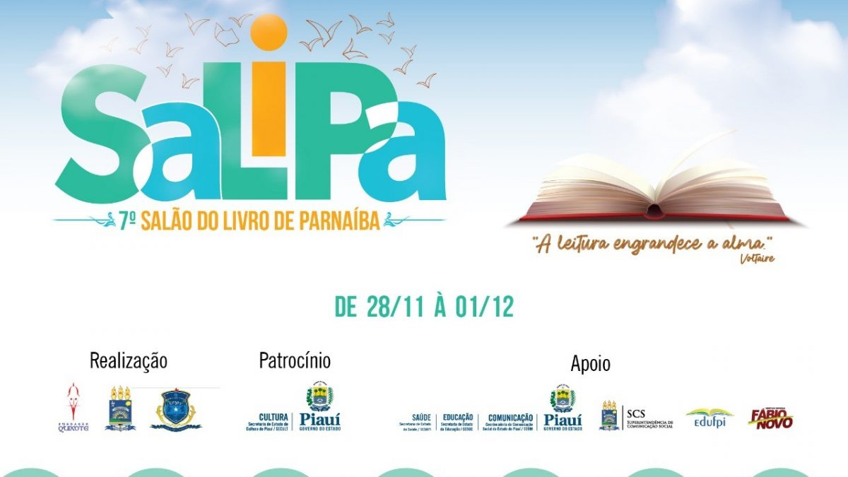 Salão do Livro de Parnaíba (Salipa) 2019será lançado neste sábado (16)