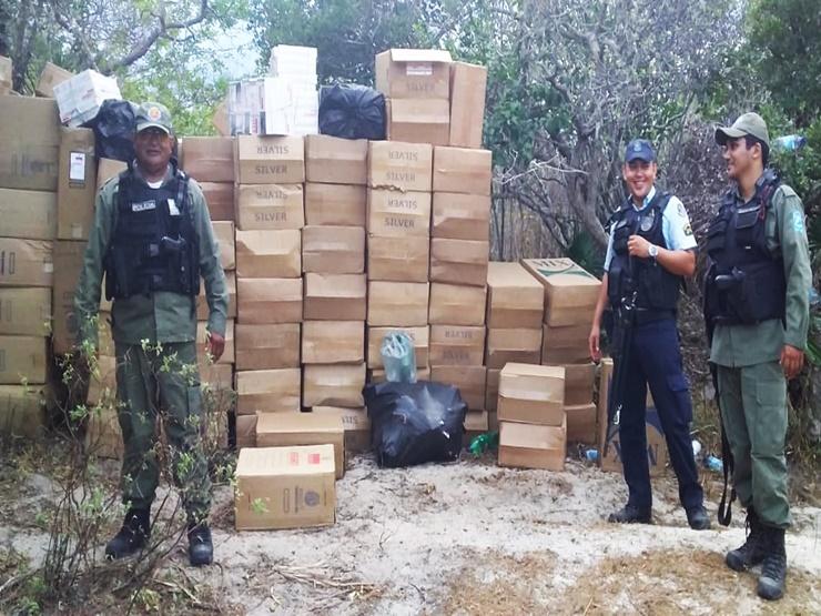 Policiais do Piauí e Ceará fazem grande apreensão de cigarro contrabandeado
