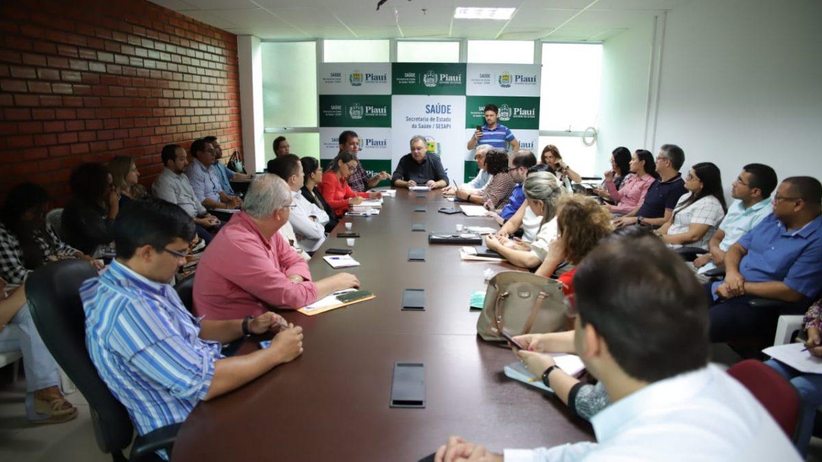 Secretário da Saúde e diretores definem ações para hospitais do Piauí