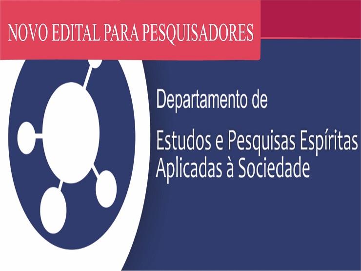 Departamento de Estudos e Pesquisas Espíritas Aplicadas à Sociedade lança edital para novos pesquisadores