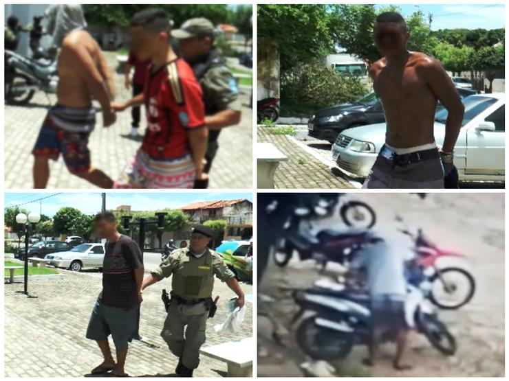 Polícia Militar captura indivíduos por furtar duas vezes a mesma moto