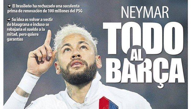 Neymar topa reduzir salário para voltar ao Barcelona, diz jornal espanhol