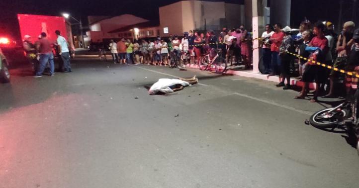 Grave acidente deixa uma pessoa morta na Avenida José de Moraes Correia, em Parnaíba