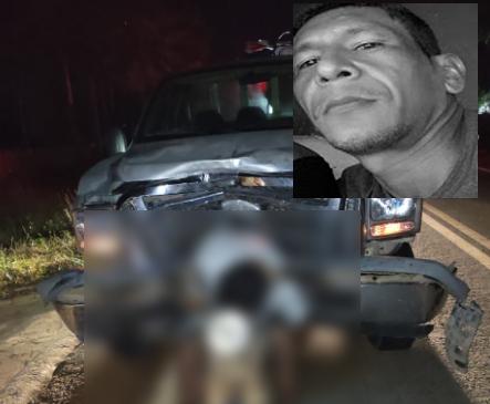 Acidente entre caminhonete e motocicleta termina com um morto na BR-402